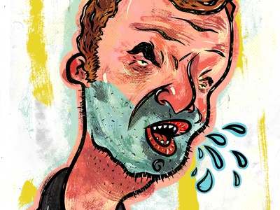 Kings of comedy #26 Jim Jeffries character drawing illustration humor portrait