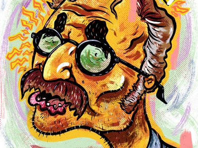 Kings of comedy #27 Marc Maron humor illustration comedy portrait character