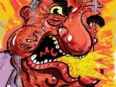 Kings of comedy #29 Joey Diaz bright editorial portrait illustration art