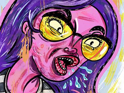 Kings of comedy #30 Ali Wong illustration portrait comedy ali