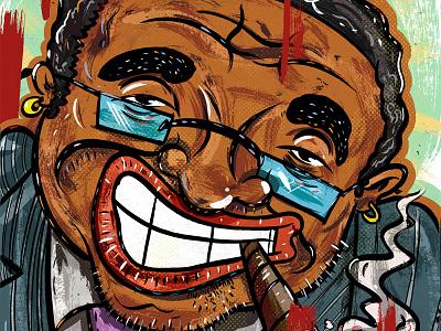Kings of comedy #33 Bernie Mac art illustration portrait comedy