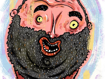 Kings of comedy #34 Bert Kreischer art editorial illustration portrait