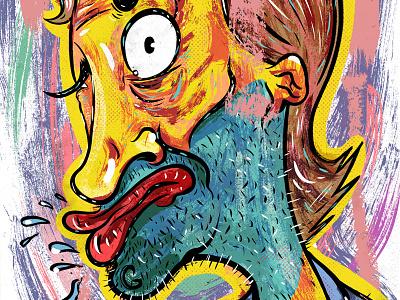 Kings of comedy #35 Chris D'Elia portrait illustration editorial art