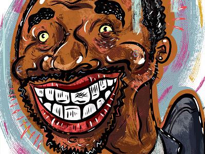 Kings of comedy #36 Chris Rock portrait editorial illustration art