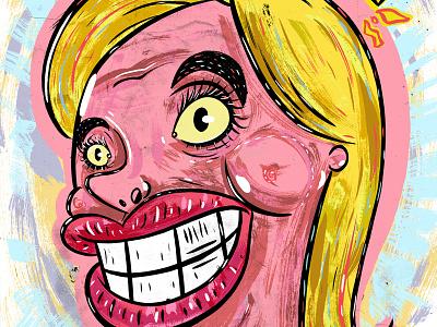 Kings of comedy #37 Christina Pazsitzky editorial illustration portrait