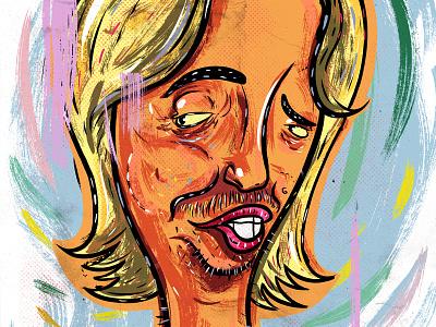 Kings of comedy #38 David Spade comedy editorial portrait art