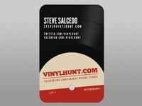 VinylHunt.com Business Card