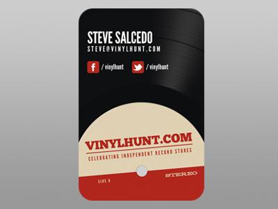 VinylHunt.com Business Card vinylhunt business card vinyl record wax lp
