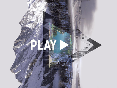 Play - Showreel intro mountains showreel norway scenery design collage video play