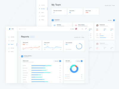 CRM Dashboard visualization data team sales report chart dashboard crm