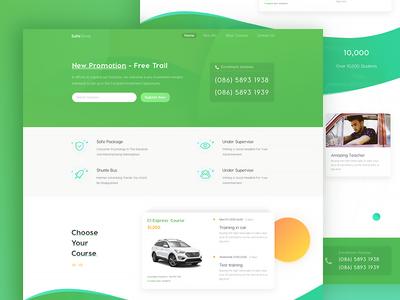 Driving School-Official Website homepage car web school driving