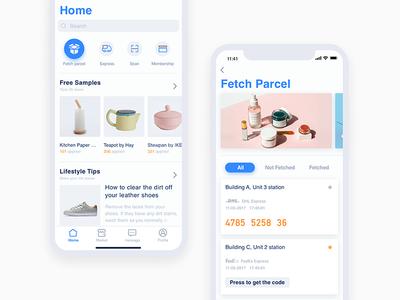 iPhone X -parcel delivering app