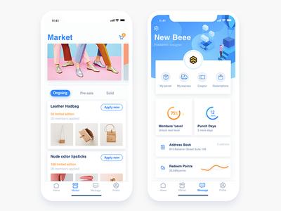 iPhone X - Market& Profile card ios11 profile market x iphone