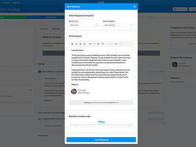 Send a response modal ui modal