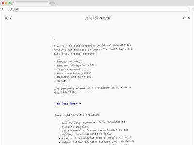 Portfolio Update minimal ui portfolio design portfolio