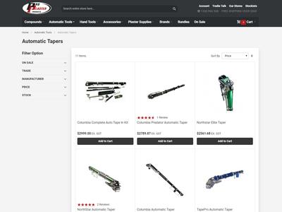 ProPlaster Category Page design ui navigation ecommerce