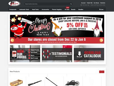 Pro Plaster Products design ui navigation ecommerce