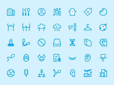 Linear system icon set 01