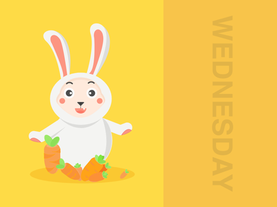 Hello Wednesday rabbit mobe game cartoonish teemo league of legends teemo character illustration