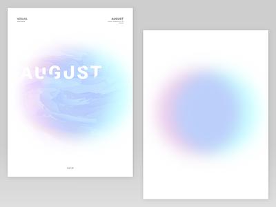 Hello August   01 visualdesign august poster gardient graphicdesign