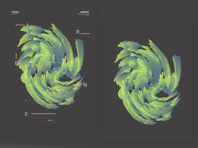 Hello August   02 green visualdesign poster graphicdesign bagasm vasjenkatro