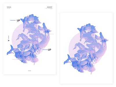 Hello August   03 coldplay upup circle visualdesign shapes posterdesign vasjenkatro baugasm
