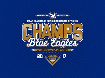 UAAP 80 Champions Ateneo Blue Eagles by Zildjan Munda ...