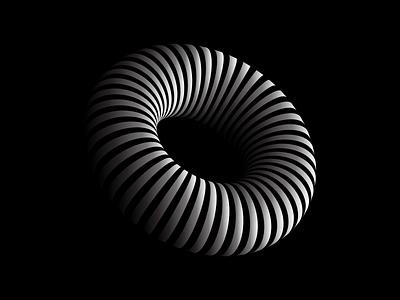 Ring 3d Logo black and white logo black and white 360 degree 3d logo design 3dlogo logo design logodesign ring 3d logos logotype logo