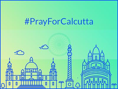Pray For Calcutta design terrorism india calcutta pray vector illustration