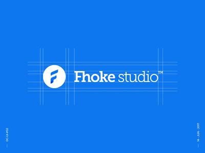 Fhoke Studio Logo - Daily UI challenge #02 fhokestudio logo oooo identity branding design lettering typography mark f grid ui challenge