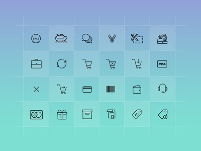 E-commerce Icons - Daily UI challenge #07