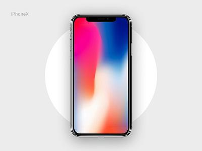 iPhoneX Mockup freebies ui ux gradient screen ios10 fhokestudio daily ui challange iphone mockup mockup iphonex iphone