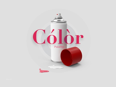 Color Palette Spray logo design color combination 3d bottle spray fhokestudio palette color