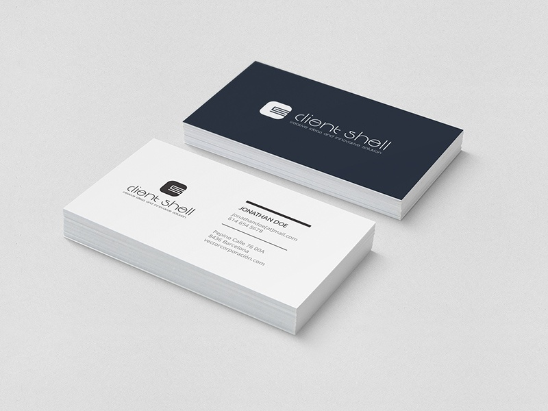 Rajinder s gill projects client shell dribbble clientshell visiting card by fhokestudio colourmoves