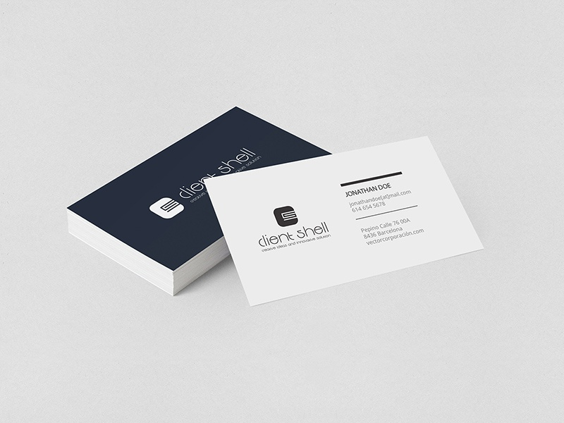 Rajinder s gill projects client shell dribbble clientshell business card by fhokestudio colourmoves