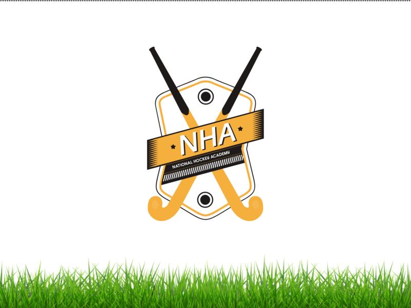 Indian National Hockey Academy Logo Redesign sport fhokestudio ooo nha puck logo design logodesign logotype logos logo hockey stick hockey logo hockey