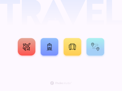 Travel Icons Set navigation shopping bag train airplane icon design iconography icon set icons icon traveling travel