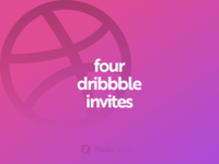 Four Dribbble Invites