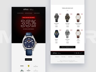 Sale Emailer (Watches) mailchimp mail email template email design email summer watch watches fhokestudio ux design ui emailer mailer