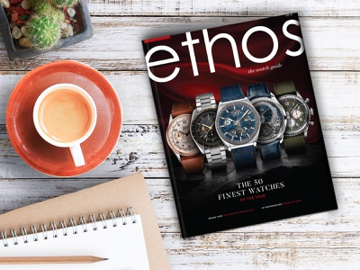 The Ethos Watch Guide Volume II branding fhokestudio magazine illustration covers cover book cover cover artwork cover design cover art luxury design luxury brand ethoswatches watches magazine design magazine cover magazine