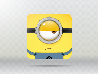 Minion Icon illustrator vector icon minion rebound yellow