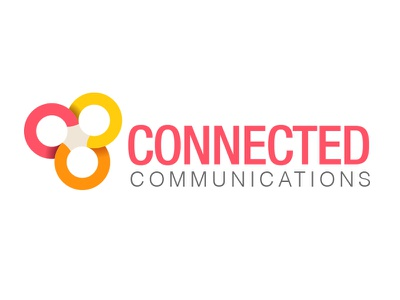 Conncomms logo illustrator geometric corporate