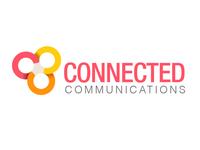 Conncomms logo illustrator geometric corporate