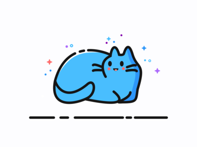 happy cat vector play mbe icoline game cool blue