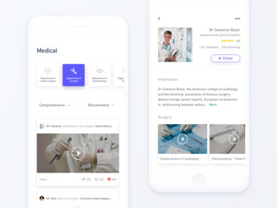 Medical ux ui simple ios interface design cool label app white medical