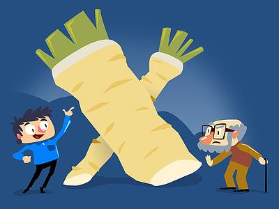 X illustration horseradish