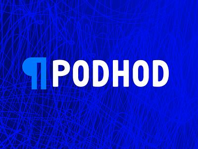 Podhod logo blue logotype logo podhod