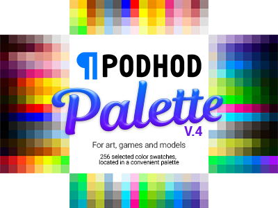 FREE Color Swatches: for digital art, games and models podhod pixelart palette swatches color