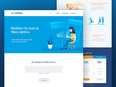 Homepage for an Optical Fiber Provider