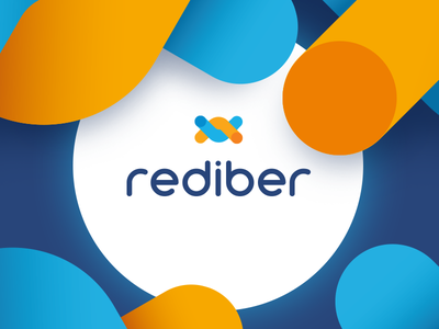 Rediber Branding combination mark icon symbol light speed colorful fiber optical logo branding